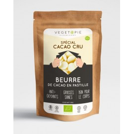 Beurre de Cacao Bio pastilles - 200g - Premium