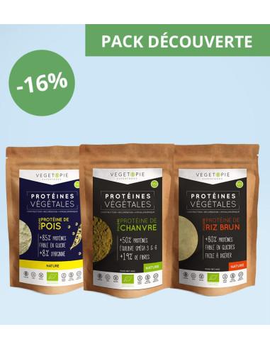 Pack 3 Protéines (3x500g) - Découverte (Pois-Riz-Chanvre)