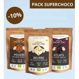 Pack Super CACAO - Poudre + élats + Beurre