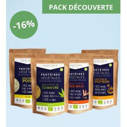 Pack 4 Protéines (4x500g) - Découverte (Tournesol - Pois - Riz - Chanvre)